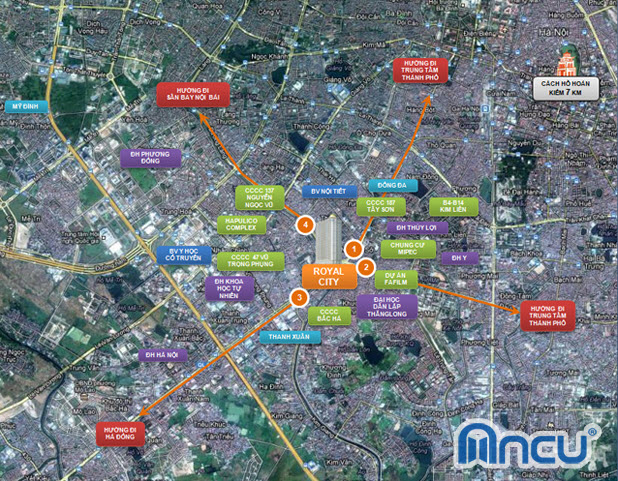 Vinhomes Royal City Nguyen Trai - Map of project location